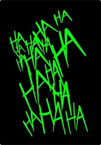 Crazy Discount Vinyl Sticker Decal Joker Laugh Lime Green Suicide Squad Harley Quinn Batman, Lime Green