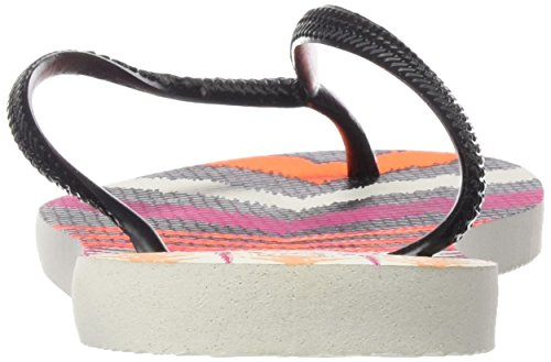 Havaianas HAV Slim Tribal, Sandalias de Punta Descubierta para Mujer, Multicolor (Black 0128, 41/42 EU (39/40 Brazilian)