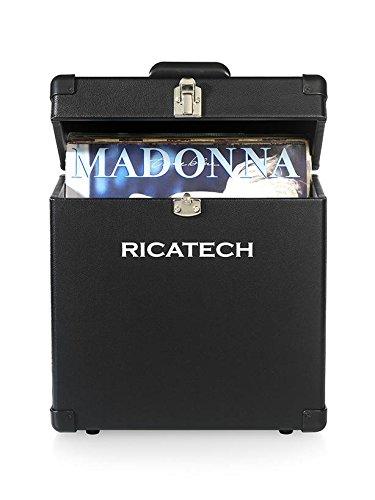 Ricatech-RC3491-Valigetta-contenitore-per-dischi-in-vinile-colore-Nero