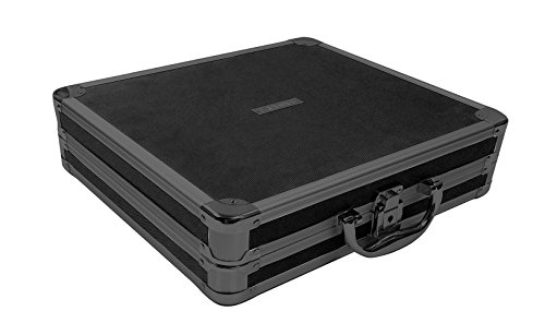 Vaultz VZ03777 Locking Hard Case Media Binder with Key Lock, 128 CD or DVD Capacity, 13.5 x 12.8 x 3.6 Inches, Tactical Black