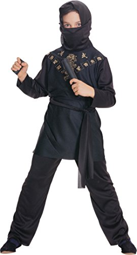 [Rubies Black Ninja Child Costume, Large] (Child Nun Costumes)