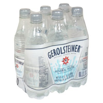 Gerolsteiner Naturally Sparkling Mineral Water, 6 Per Pack (Pack of 4)