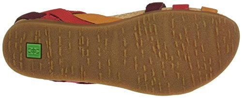 Naturalista Women's Red Nf42 Grosella Open Sandals Mixed Toe El PBnq7RBA