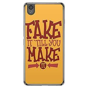 Loud Universe Oneplus X Fake It Till You Make It Printed Transparent Edge Case - Orange