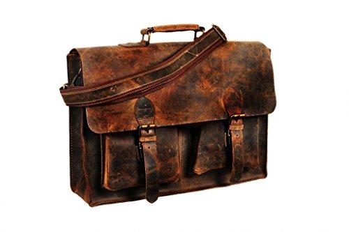 Cuero 15 Inch Retro Buffalo Hunter Leather Laptop Messenger Bag Office Briefcase (Buffalo Bag)