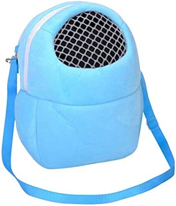 Baluue Pet Backpack Bag Cotton Breathable Small Animal Carrier for Hamster Squirrel Guinea Pig Chinchilla - Size S (Blue) / Baluue Pet Backpack Bag Cotton Breathable Small Animal Carrier for Hamster Squirrel Guinea Pig Chinchilla -...