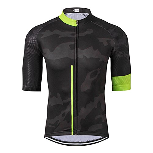 Weimostar Mountain Bike Jersey Men's Cycling Jersey for Men Short Sleeve Biking Jersey 2019 Shirt Jacket MTB Road Cycle Bicycle Clothing Black Size XL