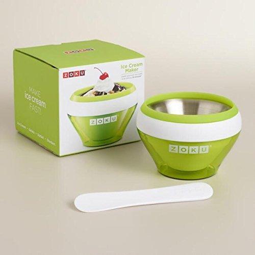 ZOKU Ice Cream Maker (5 fl. oz.) BPA, Phthalate Free - Stainless Steel - Green