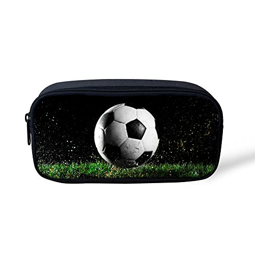 Price comparison product image FOR U DESIGNS Personality Football Print Men Office Stationery Pen Case for Kids