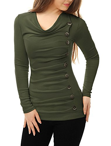 Allegra Women Sleeves Buttons Ruched product image