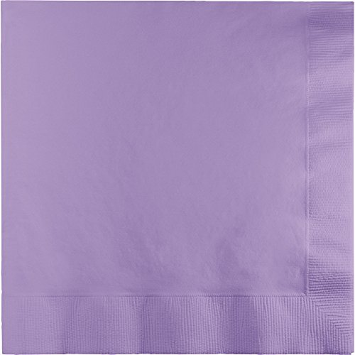 (250-Count Touch of Color 3-Ply Paper Dinner Napkins, Lucsious Lavender)