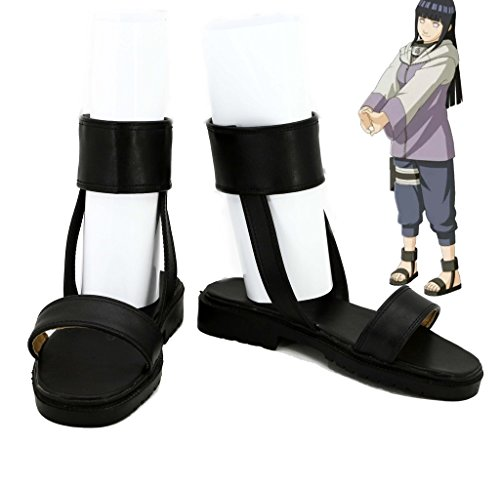 NARUTO Anime Hyuga Hinata Cosplay Shoes Boots Custom Made Nine-Tails Chakra Mode (Naruto Shippuden Naruto Nine Tails Chakra Mode)