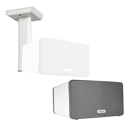 Sonos PLAY:3 All-In-One Wireless Music Streaming Speaker with Flexson Ceiling Mount (White)