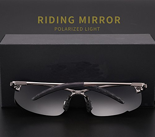 Frame Glasses UV Men Sunglasses Eyewear grey Sunglasses Protection Black Metal Sport Lens Frame Sunglasses Fashion Drving Polarized Sunglasses Riding 0RBxgqw