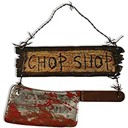 Forum Novelties Chop Shop Indoor/Outdoor Sign Decoration