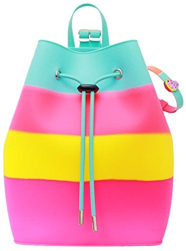 American Jewel Yummy Gummy Bucket Silicone Backpack, Skittles