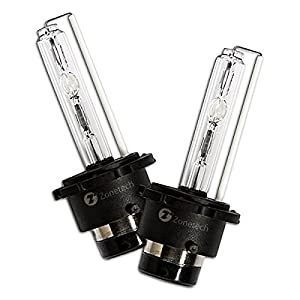 Zone Tech One Pair D2s 6K Xenon HID Bulbs – Premium Quality D2s 35W 6000K Xenon HID Diamond White Bulbs