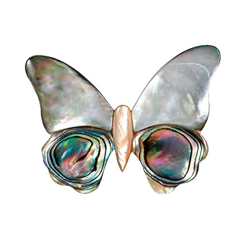 Orcbee  _Fashion Ladies Easy to Match Brooch Temperament Natural Abalone Shell Jewelry (Butterfly) - Curtain Pole Match