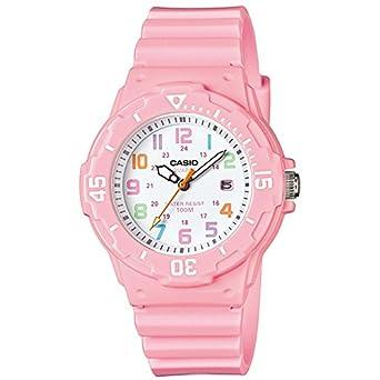 Casio Womens LRW200H-4B2V Pink Resin Analog Quartz Watch with White Dial