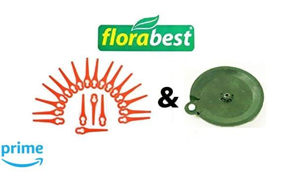 20 Cuchillo & 1 para cortar (Flora Best Lidl batería cortabordes ...