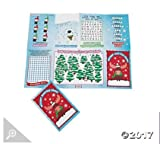 Paper Winter and Christmas Fold-Up Activity Sheets - 24 pc per order - Christmas stocking stuffers