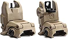 Magpul Industries USA MBUS Front & Rear Flip Up Backup Sight GEN 2 - 247-248...
