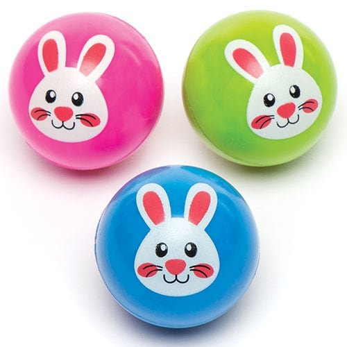Baker Ross Ltd Bunny Jet Balls for Kids Fun Creative Easter Party Bag Fillers Ideas (Pack of 6) (Egg Shaped Porcupine Balls)