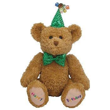 - TY Beanie Buddy - HAPPY BIRTHDAY the Bear (Blue Hat & Tie)