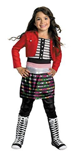 Girls Shake It Up Rocky Deluxe Kids Child Fancy Dress Party Halloween Costume, M (7-8) (Disney Shake It Up Rocky Child Costume)