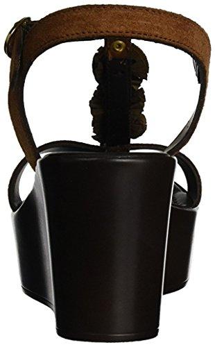 CAFèNOIR Sandalias de cuña Mxv611 Cuero