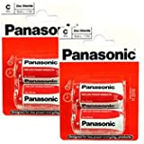 Panasonic R14RZ-2BP Zinc Chloride C Size Battery - 2 Packs