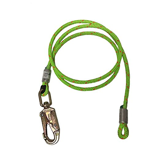 ROPE Logic 1/2'' x 8' Wirecore Swivel Snap Flipline by ROPE Logic