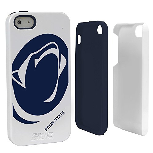 NCAA Penn State Nittany Lions Hybrid Case for iPhone 5/5s, White, One Size (Penn State Iphone Case)