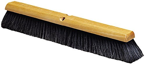 Carlisle 4503103 Flo-Pac Fine Floor Sweep, Blended Horsehair Bristles, 24'' Block Width, 3'' Bristle Trim, Black (Case of 12) by Carlisle