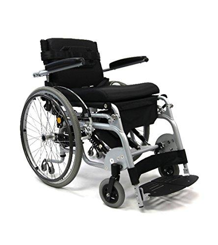 "New Karman XO-101 (XO-101N) 16"" Manual Push-Power Assist Stand Wheelchair & FREE Universal Medical Utility Bag"