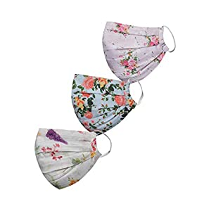 VASTRAMAY Unisex 2 -Ply Printed Reusable Anti-Pollution Comfortable Half Face, Ear Loop Masks – Pack of 3