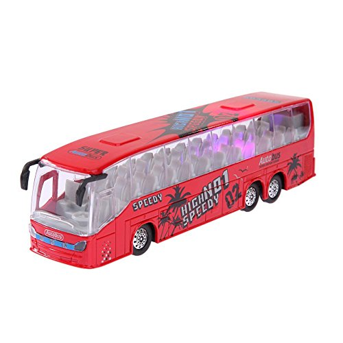 Amazingdeal 1:50 Scale Pull Back Music Bus Diecast Model LED Light Children Toy supplier