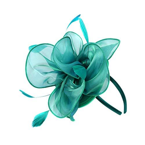 NszzJixo9 Retro Court Black Private Evening Hat Nails Headband Hairpin Headwear, Flapper Great Gatsby Headband Pearl Charleston Party Bridal Headpiece YP ()