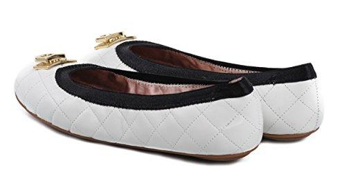 mujer Bailarinas blanco Bailarinas DKNY DKNY mujer para para PwxFq