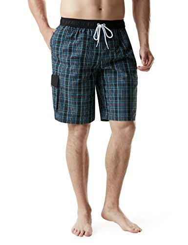 Tesla TM-MSB04-CKB_X-Large Men's Swimtrunks Quick Dry Water Beach MSB04 by Tesla