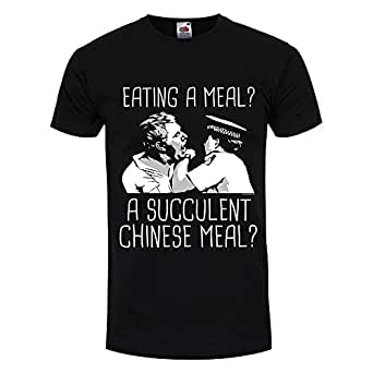 Grindstore Men's Eating A Meal A Succulent Chinese Meal T-Shirt Black
