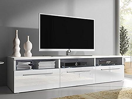 Camas y muebles - Mueble para TV modelo Diana, blanco, sin LED (1.5 m).: Amazon.es: Hogar
