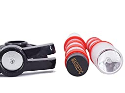 2 LED Emergency Roadside Flares Early Warnning Lights Red Road Beacon with Solid Storage Case Marine Safety Tools