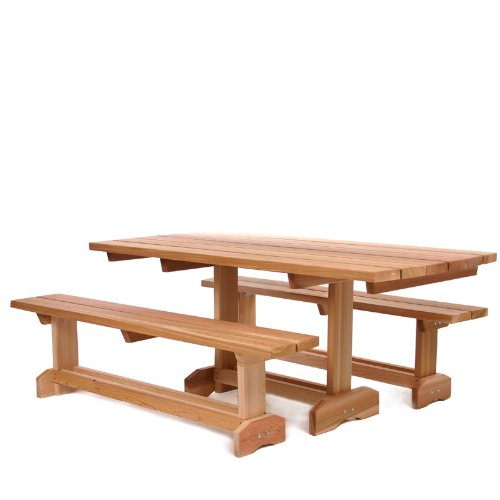 All Things Cedar Picnic Table Patio Set (8 Person)