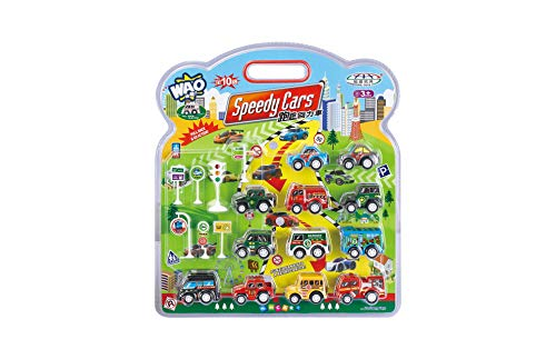 AMPERSAND SHOPS 12-Pack Miniature Vehicle Car Set Mini Pocket Size Variety with Road -