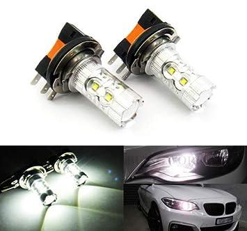 2 bombillas LED H15 64176 de color blanco para luz diurna, luz de circulación diurna DRL: Amazon.es: Coche y moto