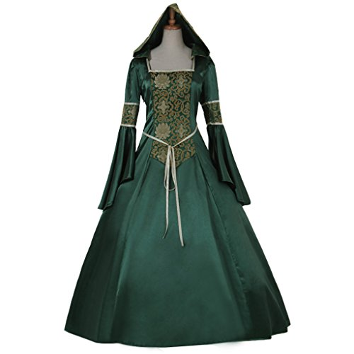 Cospl (Green Medieval Dress)