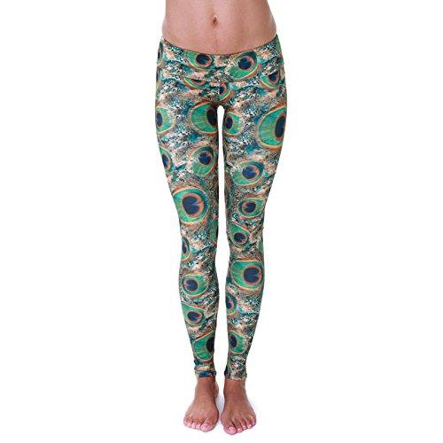 Onzie Women's Peacock Green Yoga Legging Size Medium/Large