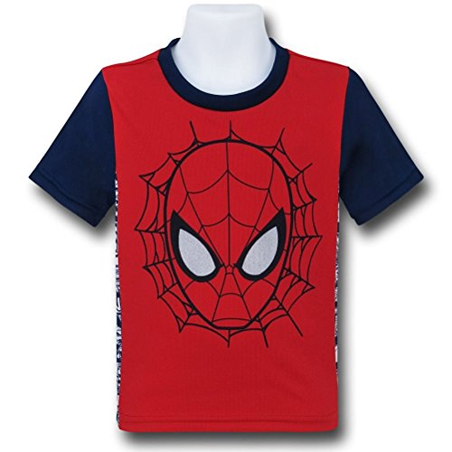 Spiderman Face Two-Tone Kids T-Shirt- Toddler 5T
