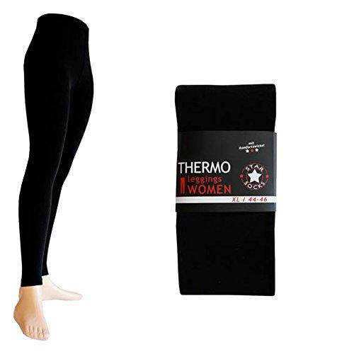 Leggings en 9 couleurs :  noir/gris, marron, rouge, bleu marine et bordeaux fushia l (noir)